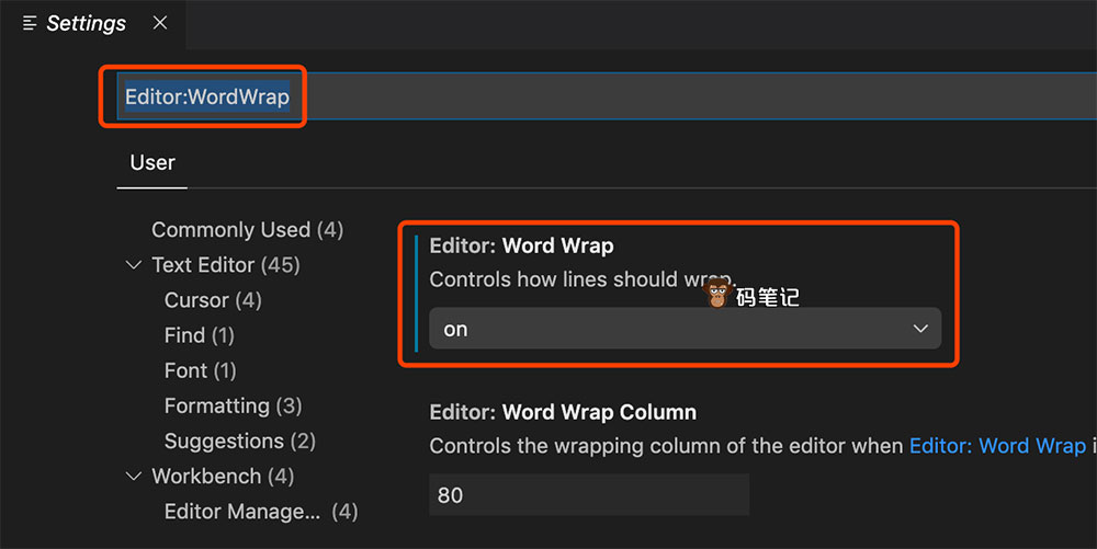 VsCode自动换行WordWrap