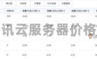 腾讯云服务器价格表收费标准(更新)